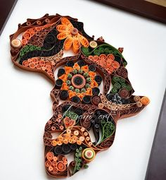 Quilled Africa Map