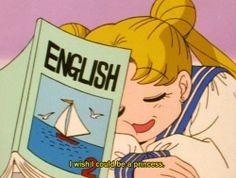 Sailor Moon / Usagi sleeping in class