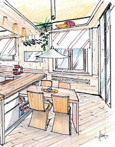 zona pranzo in legno