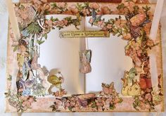 Boxed mini album featuring Graphic 45 Once upon a springtime paper collection. By Anne Rostad