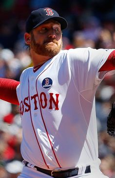 BOSTON, MA - APRIL 21: Ryan Dempster #46 of the Boston Red Sox throws against the Kansas City Royals in the 1st inning at Fenway Park on April 21, 2013 in Boston, Massachusetts.  (Photo by Jim Rogash/Getty Images)