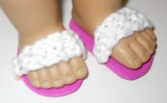 FREE American Girl Knit Sandals pattern