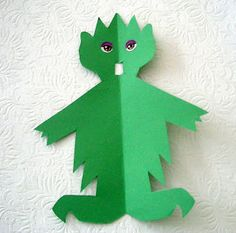 Notes from the Story Room: The Mess Monster: Cut and Tell