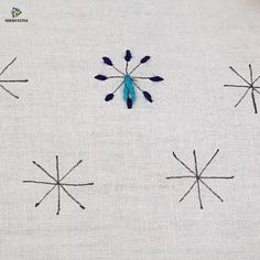Diy Embroidery Designs, Hand Embroidery Patterns Flowers, Snowflake Embroidery, Hand Embroidery Art, Hand Embroidery Videos, Creative Embroidery, Embroidery Stitches Tutorial, Simple Embroidery, Learn Embroidery
