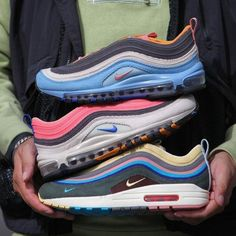 """Men and Women's Nike Air Max 97 """"Corduroy"""" Pink Sean Wotherspoon, High Top Sneakers, Shoes Sneakers, Nike Air Max For Women, Nike Shoes Outlet, Air Jordan Shoes, Air Max 97, Nike Outfits, Vans Sk8"""