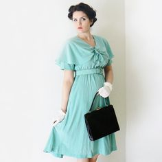 Beautiful Minty Dress by  The Vintage closet on ETSY