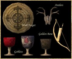 """The Medieval Smithy SIMS 2: """"Nine Archers"""" Meadhall Set"""