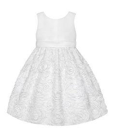 Look what I found on #zulily! White Floral  Dress - Infant & Toddler by American Princess #zulilyfinds
