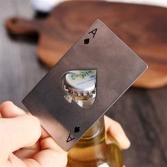 This Ace of Spades Bottle Opener makes a great stocking stuffer for a boyfriend or SO! Use the cleverly crafted hole in the center shaped like a spade to open beer and soda bottles. And the slim style easily fits in your pocket or wallet as it's the exact size of a credit card. (AFF)