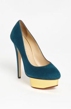 I tried these on, OMG they are so beautiful.   Charlotte Olympia Platform Pump available at #Nordstrom