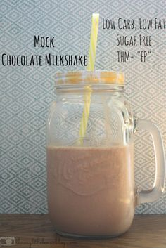 Easy Mock Chocolate Milkshake made with Almond Milk. It's Low Carb, Low Fat, Sugar Free but full of flavor!