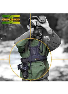 Camera Systems is the evolution of camera carrying design. We offer systems for one or two cameras with our Camera Vest and Side Holsters as well as adapters for the most popular quick release tripod mounts.