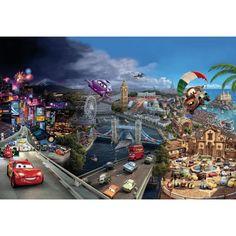Wallpaper - Cars World- Size: 368 X 254cm