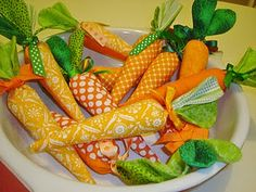 Fun craft fabric carrots make for a fun Easter craft turned centerpiece for the Easter Sunday.