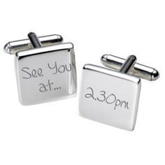Personalised Cufflinks For Groom From Bride