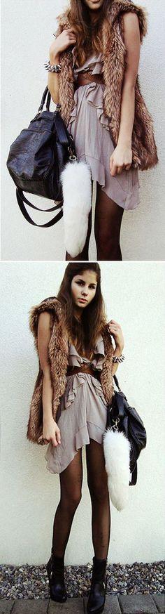 Lovely Dress + Vest!