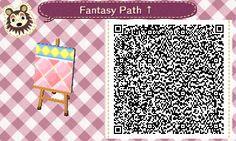 Animal Crossing QR Codes ❤ Pink Fantasy  Diamond path  Upper Side Straight TILE #5 of 9