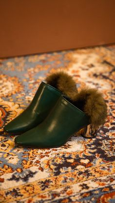 Ravello Fur Mulesv- Faux Fur and Faux Leather - #vegan mules - The best in vegan fashion