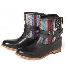 Coachella Black Multi - By Hudson Shoes Hudson Shoes, Hudson London, Navajo Style, Boho Boots, London Shoes, Brogues, Shoe Brands, Festival Fashion, Spring Fashion