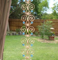 what is a rain chains  | Copper Suncatcher Swirl Rain Chain Handcrafted 8 by TwistsOnWire
