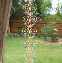 Rain Chain Twists On Wire is beautiful