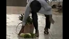 Funny Japanese TV Show   Funny Pranks   Japan Funniest Pranks, Sticky Floors