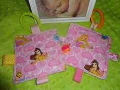 Baby girl toys taggie toy minkey dot back by Sassydoodlebaby, $6.99