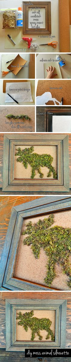 DIY Moss Animal Silhouette