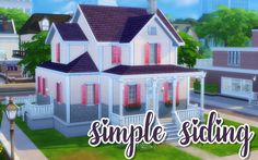 "noodlescc: "" Simple Siding Recolors 65 colors of siding with white trim on the corners. Comes in the basic siding as well as the siding with light and dark gray bricks for all 65 colors. Download """