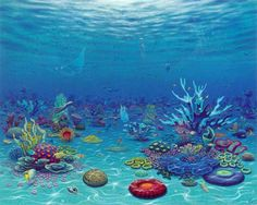 sea life - sea life photography - sea life underwater - sea life artwork - sea life watercolor sea l Aquarium Backgrounds, Underwater Painting, Sea Life Art, Mermaid Under The Sea, Manga Anime, Cartoon Wall, Mermaid Coloring, Arte Disney, Environment Concept Art