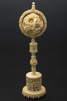 iGavel Auctions: Chinese Ivory Mystery Ball on Carved Ivory Stand, Late Century Complex Art, Oriental, Ivory Trade, Bone Carving, Chinese Antiques, Chinese Art, Wood Turning, Asian Art, China