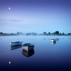 Moonlight Blue and boats reflection ... | by ouldm01