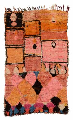 theories-of:  Unknown Artist - Carpet, 3rd third 20th century, 200 x 127cm, Boujad (market town), Middle Atlas, Morocco