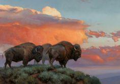 Edward Aldrich~~~       Fire in the Sky~~~         28 x 40~~~         Oil
