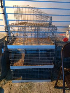 I bought 3, slightly used 3 hole transport cages & 1 wire nest box today for less than $85.