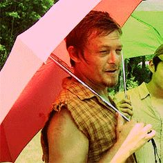 Norman Reedus / Daryl Dixon with his fabulous umbrella He makes anything fabulous!
