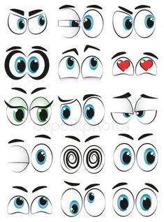 Illustration about Set of cartoon eyes with different expressions. Illustration of looking, fashion, eyeball - 34615652 Cartoon Eyes Drawing, Realistic Eye Drawing, Cartoon Faces, Drawing Tips, Cute Cartoon Eyes, Cartoon Cartoon, Stencil Painting, Tole Painting, Eyes Clipart