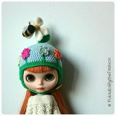 Blythe Hat  FunkyFun Bee collection  OOAK by PukadoBlytheFashion