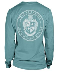 Cute long sleeve greek shirt.  Would love this with Tri-Sigma on it!
