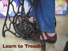 #Homestead #OffGrid - Learn how to clean a treadle machine and sew on one.  This is great!  I've been hesitant to start sewing on my old 1880's treadle, and it's just sitting there!