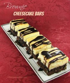 Brownie Cheesecake Bars - easy but delicious enough for any dinner party.