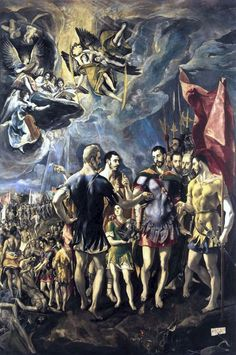 Martyrdom of St. Maurice and His Legions 1580-81 Oil on canvas, 448 x 301 cm Chapter House, Monastery of El Escorial