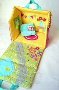 fabric dollhouse Over 100 Free Stuffed Animal Sewing Patterns at AllCrafts.net