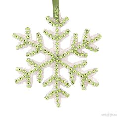Looking for beautiful Christmas tree decorations? This beautiful snowflake with hanger is decorated with diamonds and has a purple finish. You can also use this snowflake for decorations on tables. Available in different colours.