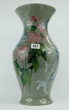 Top 25 Highest Selling Lots - Collectors & General Auction – Lot 451 – Moorcroft Prestige Isolabella vase limited edition height 46cm.  Sale Price £480.00