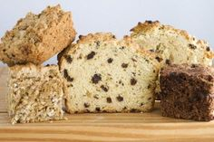 Get creative with Irish Soda Bread_ Recipe adapts to a variety of seeds, nuts and other additions_From left, oatmeal-rye Soda Bread with herbs and walnuts, Irish Soda Bread, and double chocolate cherry Soda Bread are made with the same basic recipe.
