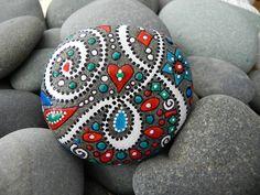 Galaxia feliz / griego River Rock por LoveFromCapeCod en Etsy