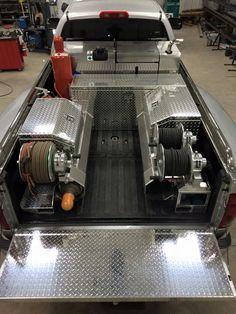 Slick welding rig. Still pull a fifth wheel.