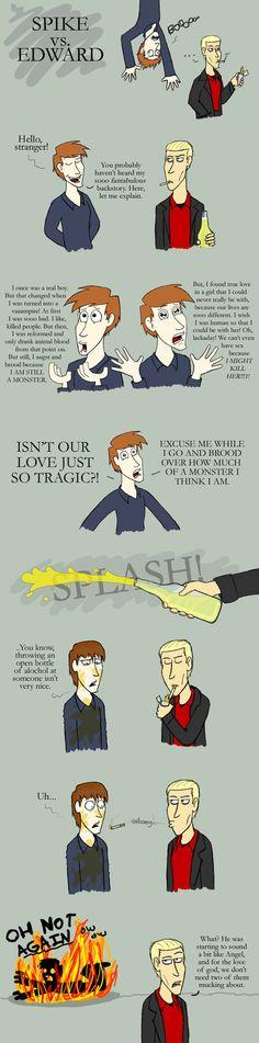Edward vs. Spike by Jarjarrr on DeviantArt #Geek