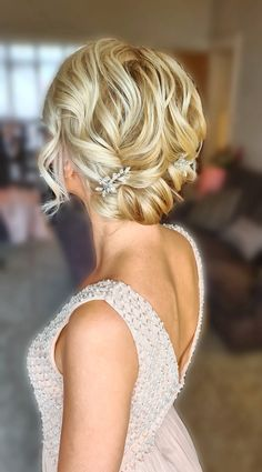 A gorgeous soft curled hair up #bridalhair #bridesmaids #curls #essexhairstylist #hairupideas #hairinspo #bridalhairup